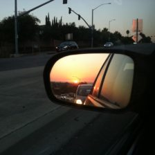 sunset driving photo
